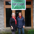 Sue Marriott and Victoria mack at the new Landcare centre in Selo in April 2010