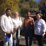 L-R: Sheik Tanveer Hossain, Sue Marriott (SILC), Jashim Uddin, Mary Johnson (SILC)